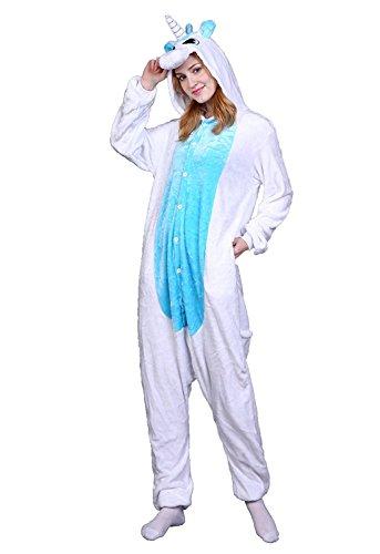 pigiama unicorno bianco e blu