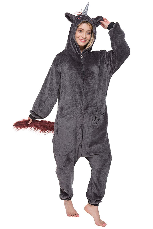 pigiama unicorno nero